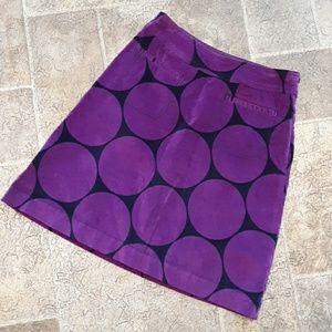 Boden women's size 8 velour mid length skirt